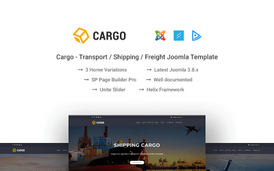 Cargo - Transport / Shipping / Freight Joomla Template