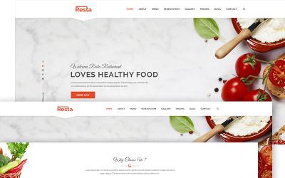 Resta - Responsive Restaurant Website Template