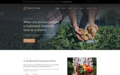 Mike's Farm - Food Responsive Simple Joomla Template