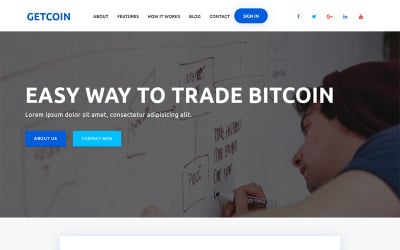 Getcoin - Cryptocurrency Landing Page Template
