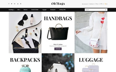 Oh! Bags - Fancy Bags Online Shop OpenCart Template