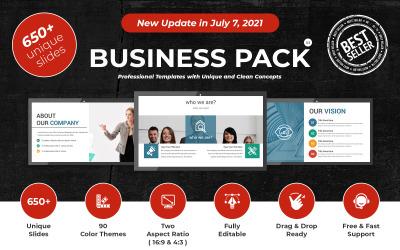Modelo de apresentação do PowerPoint para pacote de negócios
