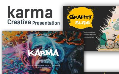 Plantilla de PowerPoint - presentación creativa de karma