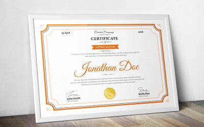 Jonathan Doe - čistá šablona certifikátu