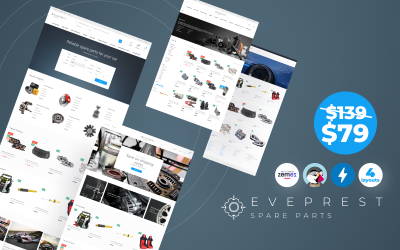 Eveprest Spare Parts 1.7 - Un tema PrestaShop per una soluzione migliore