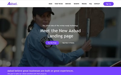 Aabad - Multi-Purpose - Unbounce template