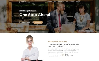 Justice - Attorney Agency HTML5 Landing Page Template