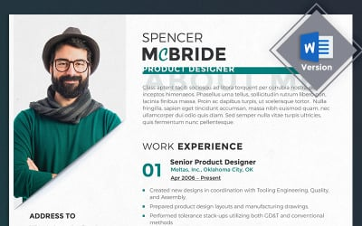 Spencer McBride - Product Designer Resume Template