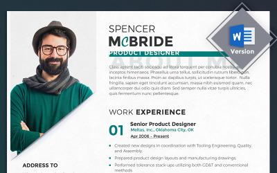 Спенсер МакБрайд - шаблон резюме дизайнера продуктов