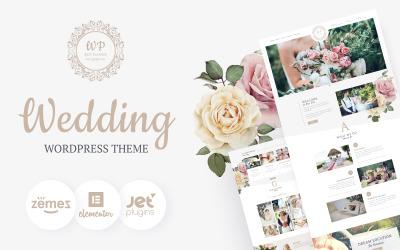 Belle Fleur - Tema do WordPress Elementor do desembarque do casamento