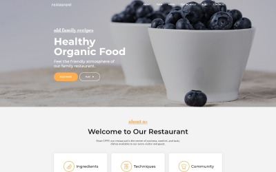 Restaurace - Cafe & Restaurant Services Šablona cílové stránky HTML5