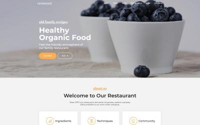 Restaurang - Kafé & restaurangtjänster HTML5 Mall för målsida