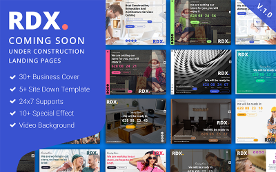 RDX: Coming Soon, Under Construction Landing Page Template