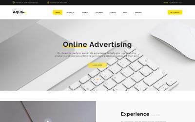 Aqua - reklamowy szablon strony docelowej HTML5