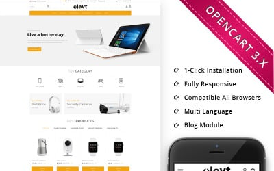 Elevt Electronic Store - Responsive OpenCart Template
