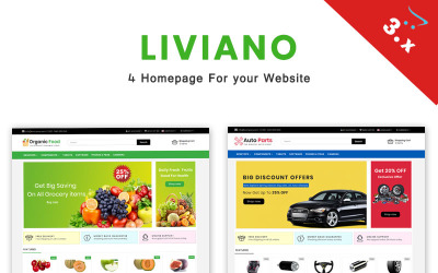 Liviano - Ecommerce Multipurpose OpenCart Template