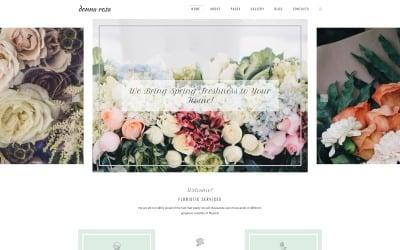 Donna Rosa - Sophisticated Florist Agency Joomla Template