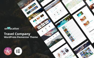 OnVacation - тема WordPress для туристической компании Elementor