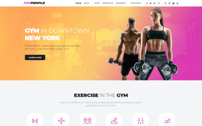 FitPeople - Thème WordPress Elementor Fitness