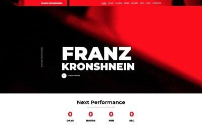 Franz Kronshnein - zenész Joomla sablon