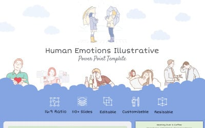 Human Emotions Illustrative PowerPoint template