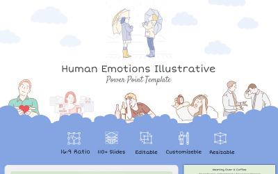 "Иллюстративный шаблон PowerPoint ""Эмоции человека"""