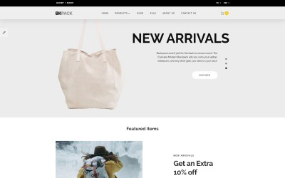BKPack - Responsive Bags Online Store OpenCart Template