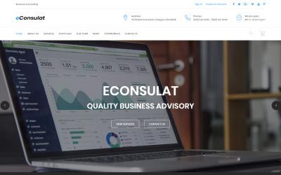 eConsulat - HTML-Landingpage-Vorlage für solide Unternehmen