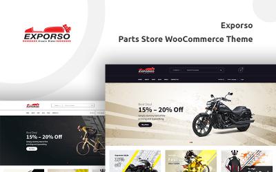 Exporso - Тема магазину велосипедних запчастин WooCommerce