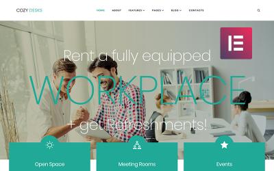 Cosy Desks - Tema do elemento WordPress de Coworking