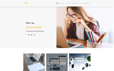 Fire Multipurpose Personal Portfolio PSD-Vorlage