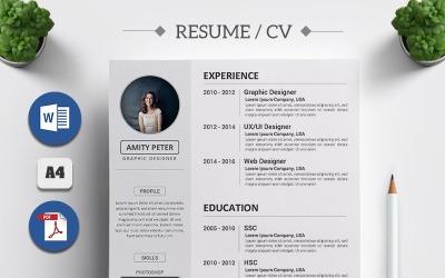 Amity Peter - szablon CV CV