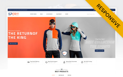 Sports Store OpenCart  Responsive Template