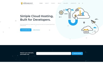 Dreamhost - Cloud Hosting Joomla Template