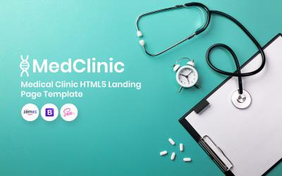 MedClinic - szablon strony docelowej kliniki medycznej