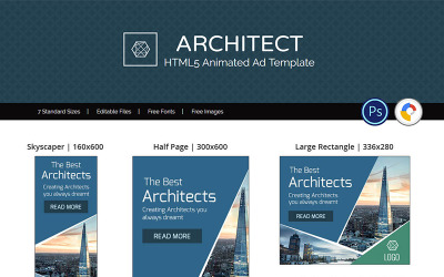 Professional Services | Architect Ad Banner Animated Banner