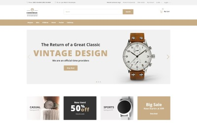 CHRONUS - Watches Shop OpenCart Template