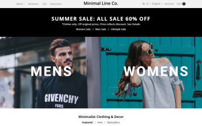 Minimal Line Co - Style Online Store OpenCart Template