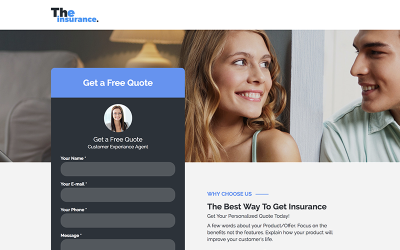 Family Insurance - Responsive Landing Page - Unbounce template