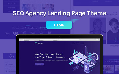 SEO Agency HTML Landing Page Template