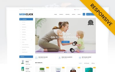 Medi Click - Drugs Store OpenCart Template