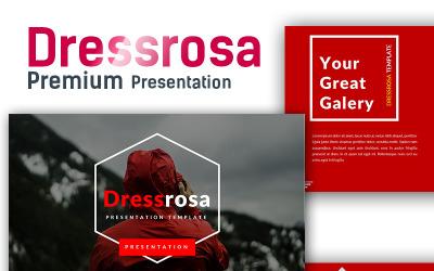 Modello PowerPoint Premium Dressrosarosa