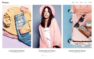 Boutique - Modelo de galeria de fotos de moda