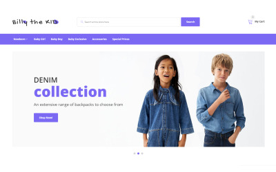 Bill The Kid - Simple Kids Fashion Online Store OpenCart Template