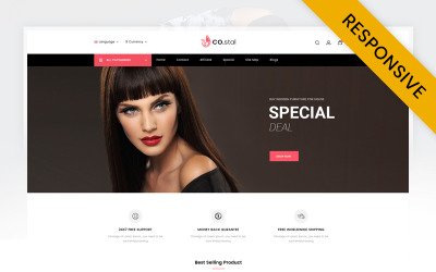 Costal - Beauty Store OpenCart Template