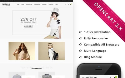 Daydream - The Fashion Hub Responsive OpenCart Template