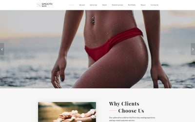Smooth Skin - Waxing Salon HTML5 Landing Page Template