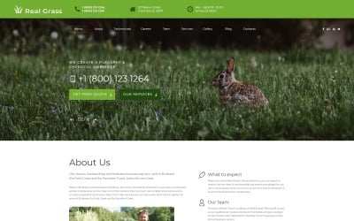 Real Grass - Garden Maintenance HTML Landing Page Template