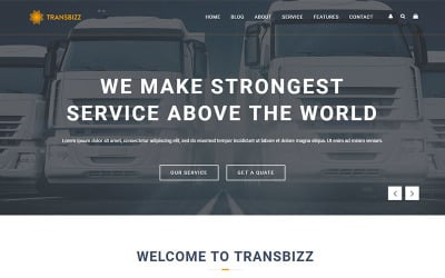 TransBizz - Transport, Logistic & Warehouse HTML5 Template Landing Page Template