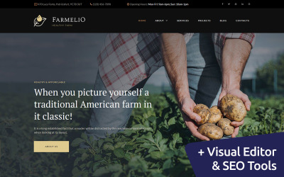 Farmelio - Farm Moto CMS 3 Template